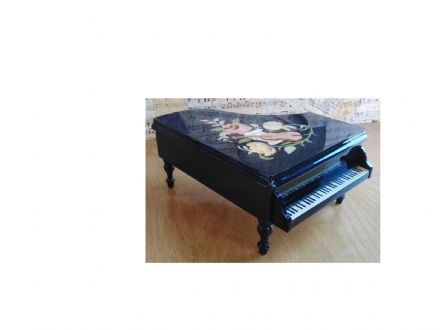 Italian Inlaid Musical Grand Piano  PN/18 Black Instrument